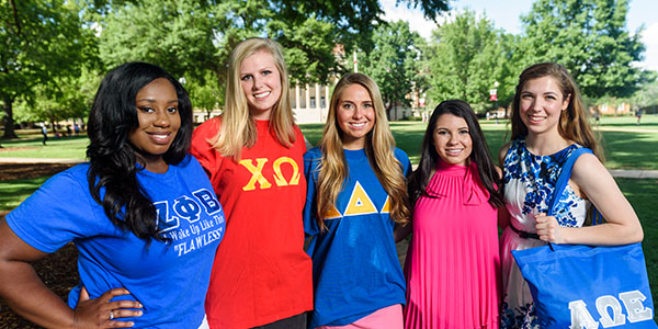 students from various sororities
