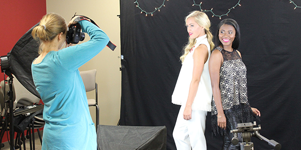 students at photoshoot