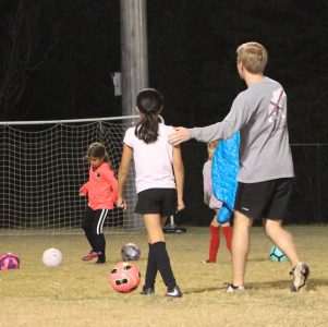 Lomax coaches girls soccer for the Tuscaloosa Parks and Recreation Authority three days a week.