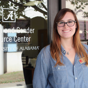 UA senior Maury Holliman connected with the Women and Gender Resource Center during her freshman year at the Capstone.