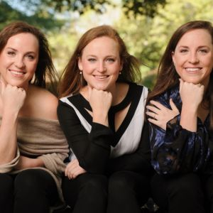 Liza, left, Charlotte (middle) and Peirson are May degree candidates.